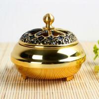 纯铜香熏檀香盘香炉居室香道 佛教用品 铜香炉