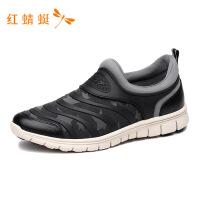红蜻蜓男鞋休闲鞋轻便防滑舒适秋季一脚蹬透气运动鞋