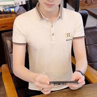 polo衫男短袖夏季文艺小青年学生T恤韩版修身上衣潮男装