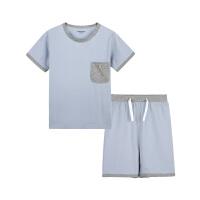 彩桥儿童家居服纯棉儿童睡衣可外穿春夏季薄款空调服短袖短裤大童睡衣套装男童睡衣