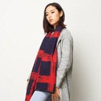 加厚女士围巾 冬季 披肩情侣柔软两用女生披肩围巾