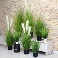仿真植物芦苇草盆景狗尾巴草家居室内北欧简约装饰绿植盆栽摆件