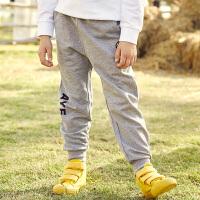 【2件3折到手价:49】小猪班纳童装男童长裤春季新款束脚裤针织裤纯棉
