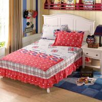 福存家居 1.2米1.5米1.8米2.0米床垫保护罩套裙边全棉时尚床裙罩套纯棉