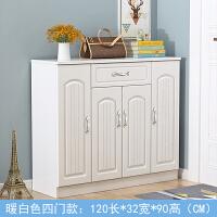 欧式鞋柜现代简约家用门厅柜经济型客厅玄关柜对开门大容量实木 组装