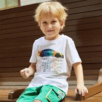 【3件3折到手价:46】小猪班纳童装男童短袖t恤纯棉中大童儿童夏装半袖潮牌韩版洋气衫