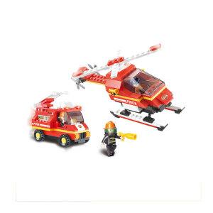 【当当自营】小鲁班急速火警系列儿童益智拼装积木玩具 机场消防队M38-B0219