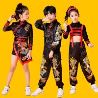 儿童演出服男女童嘻哈街舞爵士舞套装中国风旗袍走秀表演服装