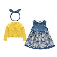 女童裙子小女孩公主裙春秋婴儿春装宝宝连衣裙