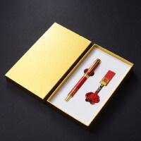 中国风复古典红色经典签字笔32gu盘套装 金属创意高档水笔送男女士圣诞节礼物 公司会议年会商务礼品定制logo