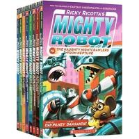 英文原版绘本 Ricky Ricottas Mighty Robot 威猛机器人8册盒装 漫画幽默故事书 内裤超人作者
