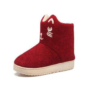 O'SHELL法国欧希尔新品冬季113-X-377韩版磨砂绒面平跟女士亲子雪地靴