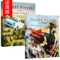 哈利波特与魔法石1+密室2 英文原版 Harry Potter and the Philosopher's Stone