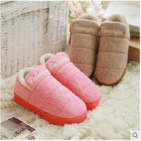 情侣室内包跟棉拖鞋防滑厚底毛绒男女月子棉鞋保暖居家居拖鞋冬季