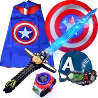 (儿童节礼物)美国蜘蛛队长侠发光宝剑儿童仿真刀剑玩具万圣节表演装扮道具