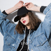 帽子女韩版棒球帽女休闲百搭时尚潮人街头个性黑色弯檐鸭舌帽