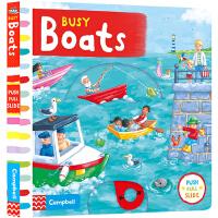 Busy Boats 系列纸板书 英文原版绘本 繁忙的小船 活动操作书