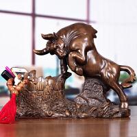 生肖牛带收纳盒摆件创意玄关办公室桌收纳放钥匙手机创意实用摆设