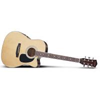 Season思雅晨41寸新手 初学 入门 民谣吉他套装ST-41NC(配包、拨片、背带、指甲磨、调节扳手、备用弦、电子调音器、入门教材)