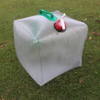 户外用品 20L折叠水桶 透明折叠水壶 户外饮用水桶 水盆