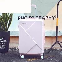 行李箱女拉杆箱小清新旅行箱子母皮箱学生密码箱韩版万向轮24寸 可爱粉 20寸