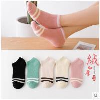 袜子女士加绒短袜低帮秋冬加厚棉袜女冬季毛巾袜保暖女袜毛圈袜