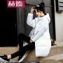 【赫��】2017秋冬羽绒服中长款韩版修身棉袄时尚过膝棉服明星款H6809