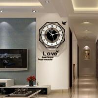 现代简约大气个性时尚艺术石英钟北欧式钟表挂钟客厅创意家用时钟