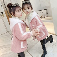 女童秋冬装2020新款韩版儿童加绒加厚外套冬季毛呢大衣