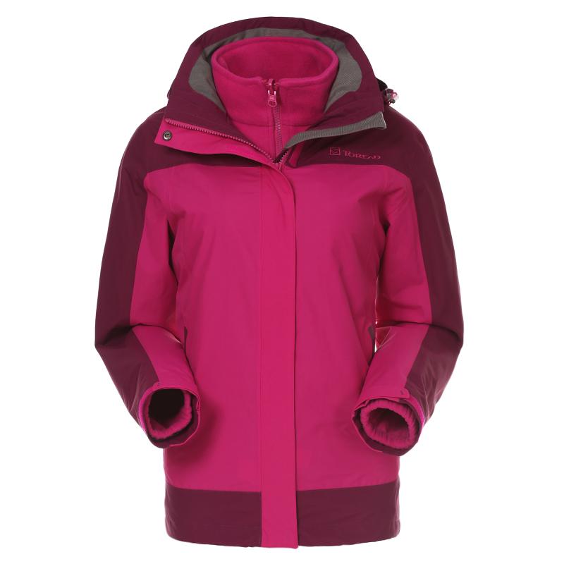探路者户外女款套绒冲锋衣保暖防风TAWC92787