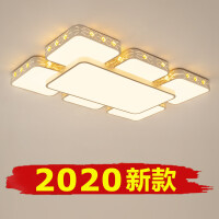 新款LED吸顶灯长方形水晶客厅灯温馨大气卧室灯现代简约书房灯具