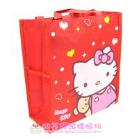 卡通防水饭盒袋便当包手拎包补习包可放A4书带网袋放 红色 Kitty