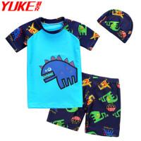 婴儿童泳衣1一4岁男男宝宝小孩浮力游泳衣2连体男童男孩泳装3小童