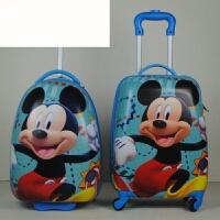 可爱卡通拉杆箱16寸蛋壳行李箱拉杆书包新品 大米奇 17寸 四轮双拉杆