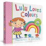 顺丰发货 英文原版 Lulu Loves Colours 露露爱颜色 露露系列 纸板翻翻书 儿童幼儿启蒙 Lulu系列