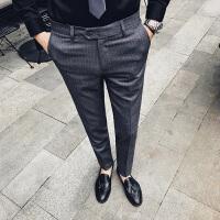 男士西裤修身休闲裤商务简约 涤纶65%粘胶35%