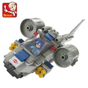 【当当自营】小鲁班特种部队军事系列儿童益智拼装积木玩具 攻击机M38-B0196