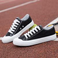 韩版经典情侣帆布鞋男鞋批发韩版时尚运动板鞋潮流低帮学生鞋6651