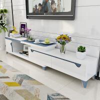 20190816180854868简约现代实木茶几电视柜组合 可伸缩电视机柜 小户型客厅家具套装 组装