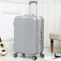 潮流铝框拉杆箱万向轮学生男女行李箱20寸密码旅游旅行箱24寸韩版dm 银色 20寸