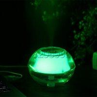 自由星水晶夜灯USB加湿器迷你个性创意静音办公家用小型净化空气