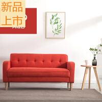 沙发小户型北欧布艺双人三人服装店沙发现代简约迷你日式单人沙发定制