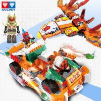 铠甲勇士猎铠拼装拼图插小颗粒积木男孩子6-10岁儿童益智力玩具