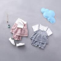 2018婴儿春夏装女童时尚洋气套装女宝宝纯棉衣服婴幼儿0夏季1-3岁