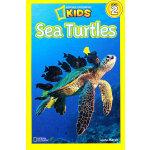 National Geographic Readers, Level 2: Sea Turtles 美国《国家地理》杂志-儿童科普分级阅读,第2级:海龟 ISBN 9781426308536