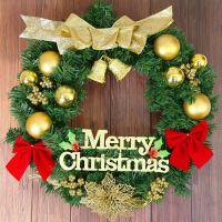 圣诞节装饰品花环花圈藤条门环门挂店面壁挂件氛围场景布置树摆件