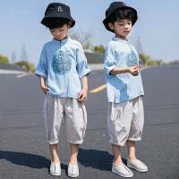 男童夏装中国风汉服男宝宝夏天套装儿童复古装小孩民族风唐装