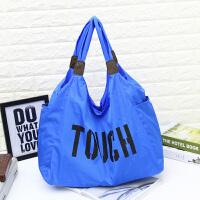 新款休闲韩版尼龙女包斜跨包大容量超轻布包手提单肩包旅行大包包 蓝色 下单后年后初九发货