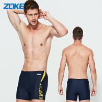 洲克 男士泳衣游泳裤男平脚平角 低腰性感舒适抗氯休闲泳装