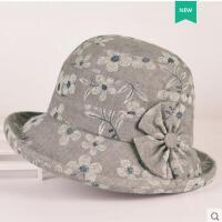 中老年帽子女韩版盆帽渔夫帽时装帽遮阳户外妈妈布礼帽婆婆